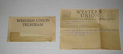VINTAGE Feb 27th, 1942 WESTERN UNION TELEGRAM in New York