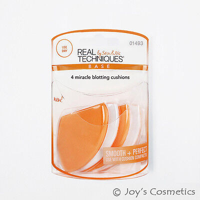 "1 REAL TECHNIQUES 4 Miracle Blotting Cushions Sponges ""RT-1493""*Joy's cosmetics*"