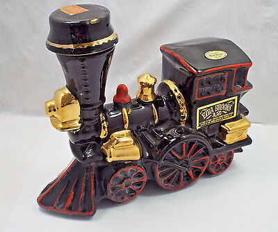 Vintage Ezra Brooks Whiskey Train Locomotive Decanter