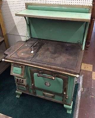 The Majestic Antique Wood Cook Stove In Green