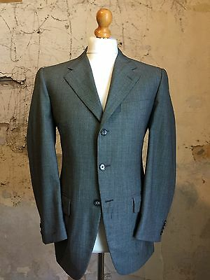 bespoke corneliani grey birdseye three button business suit size 38