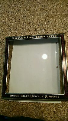 Sunshine Biscuits Loose Wiles Biscuit Co Glass General Hinged Store Display Lid