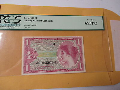 Series 641 $1 Military Payment Certificate Pcgs 65Ppq
