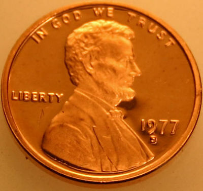 1977-S Lincoln Memorial Cent Proof Red Penny