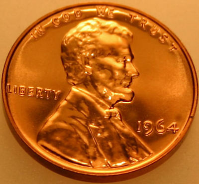 1964-P Lincoln Memorial Cent Proof Red Penny