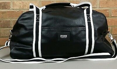 Victorias Secret PINK Gym Duffle Bag Tote Sport Overnight Weekend Black 22""