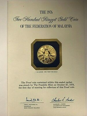 1976 Two Hundred Ringgit Gold Proof Coin Of The Federation Of Malaysia