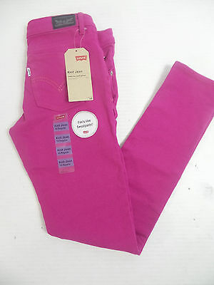 Levi's Girls 'The Knit Jean' Pants Pink US Size 14 reg NWT