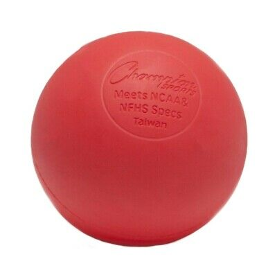 Champion Sports NCAA/NFHS Official Size LBR Molded Rubber Lacrosse Ball, Red