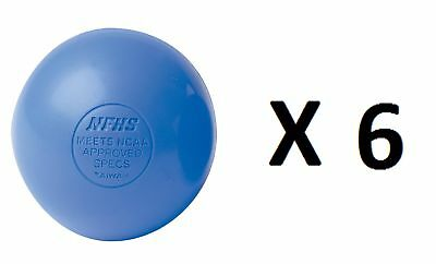 Champion Lacrosse Ball Official NFHS NCAA Massage Therapy-BLUE (6-Pack)