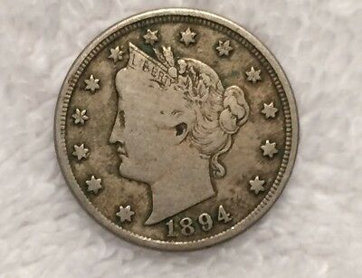 1894 Liberty Nickel VF Very Fine