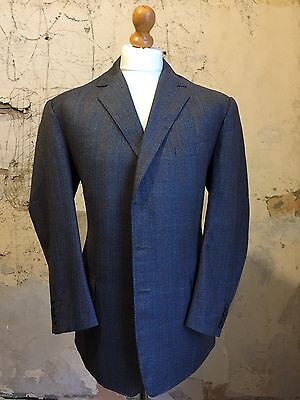 vintage three 3  piece bespoke Prince of Wales suit  size 44