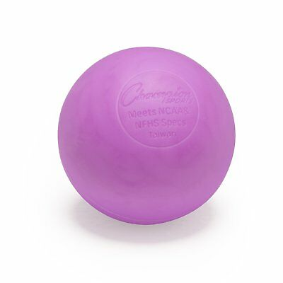 Champion Sports NCAA/NFHS Official Size LBV Molded Rubber Lacrosse Ball, Purple