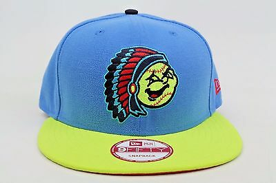 f352bb3cd76 Peoria Chiefs Light Blue Neon Green Black Red MiLB New Era 9Fifty Snapback  Hat
