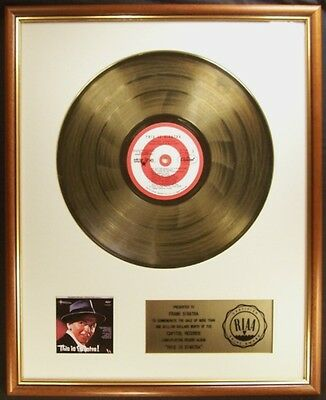 Frank Sinatra This Is Sinatra LP Gold RIAA Record Award To Reprise Records
