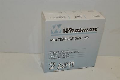 Whatman multigrade GMF150 90mm 2um graded density glass microfibre filters 20pc