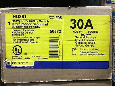 Square D HU361 Safety Switch ** New In Box, Free Shipping **