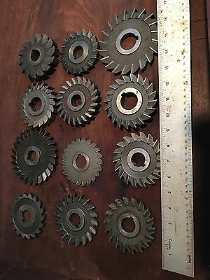 MACHINIST TOOLS MILL Machinist Lot of 12 Mill Slitting Cutting Saw Blade S