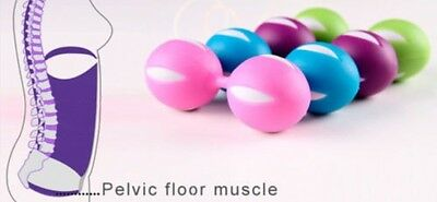 Full Color Kegel Exercise Duo Geisha Vaginal Muscle Tightening Rolling 2 Balls