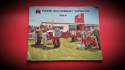 Orig 1963 INTERNATIONAL HARVESTER FARM EQUIPMENT BUYERS GUIDE SALES BROCHURE IH