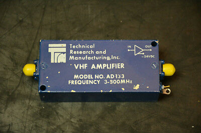 Technical Research and Manufacturing AD133 VHF Amplifier (3-300MHz)