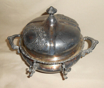 Antique Covered Butter Dish Forbes Silver Co. Quadruple Plate