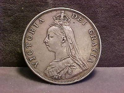 Great Britain Silver Double Florin Crown Size Coin 1887