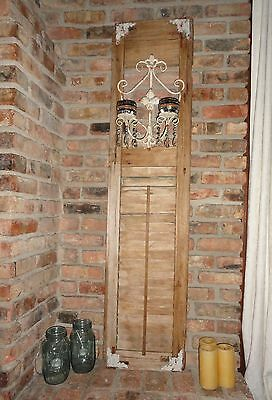 Vintage New Orleans Shutters, Shabby Chic Shutter, Garden & Home Decor Upcycle.