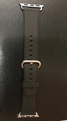 NEW Genuine Apple  Watch Band -  38MM Black Classic Buckle - MMH82AM/A