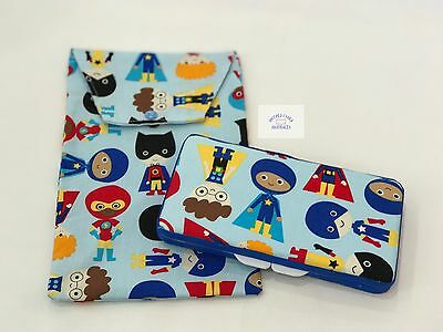Superhero Boys Wipes Case & Nappy Pouch - Perfect Gift For Baby Shower