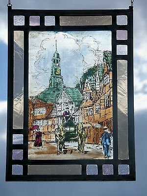 "Leaded Glass Window Image Stained glass ""Hamburger Saint Katharinen Church"""