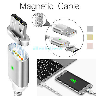 2.4A Magnetic Micro USB Charging Cable Adapter Charger for Android Samsung / LG