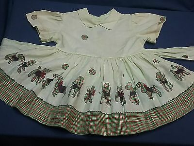 Vintage girl newborn dress romper 1940 1950s newborn infant clothing 3 to 12 mo