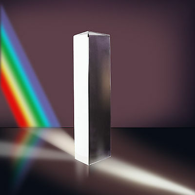 "3.15"" Optical Glass Physics Experiment Triple Triangular Prism Refractor 8cm"