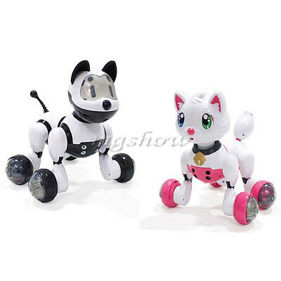 Kids Intelligent Electronic Voice Activated Robot Puppy Kitty Pet Dog Cat Uk