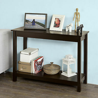 SoBuy®  Console Table,Side Hall Table with One Shelf,  Dark Brown ,FSB07-BR,UK