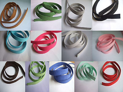 10mm Flat Faux Suede Leather Cord Craft Lace Jewelry Rope String Necklace 100CM