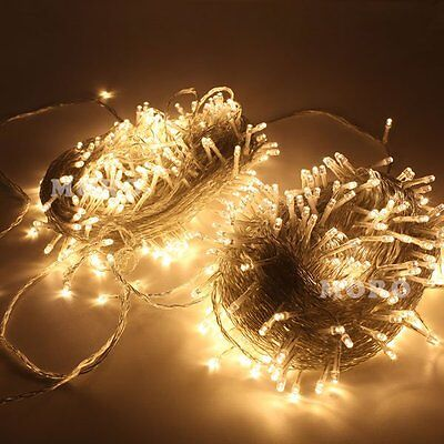 Outdoor Warm White 50M LED String Lights Christmas Wedding Party Garden Roof
