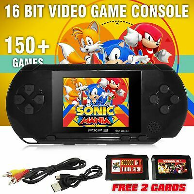Handheld Portable Pvp 3 Games Console 16 Bit 150 Retro Megadrive Ds Video Game