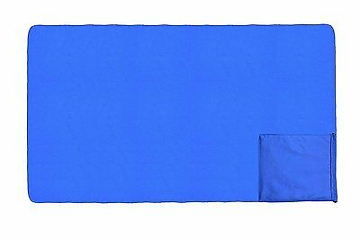 Microfibre Beach Towel with Pocket Quick Dry Absorbent Lightweight (32 X 60inch)