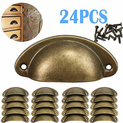 24pcs Antique Retro Kitchen Cabinet Cupboard Drawer Shell Pull Handle Door Knob