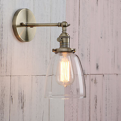 Big Sale!!!Vintage Industrial Glass LampShade Edison Filament Wall Light Sconce