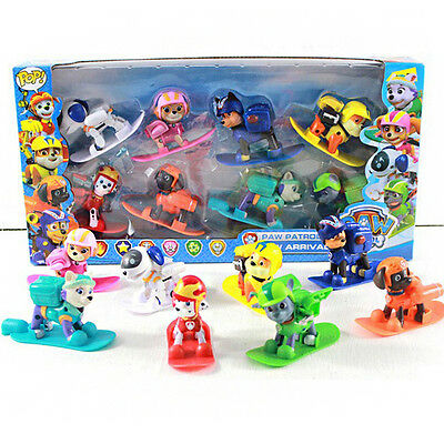 8X Paw Patrol Skateboard Pups Figure 9CM Marshall Rubble Kid Toy Best Xmas Gift