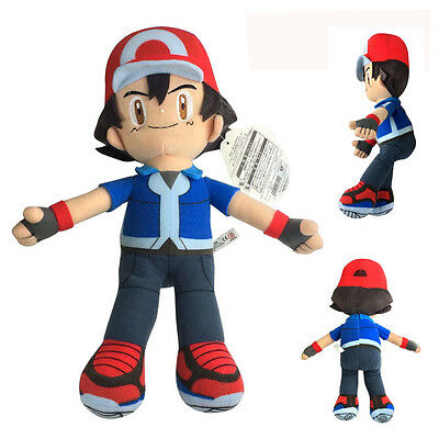 Pokemon Pocket Monsters Partners Ash Ketchum 33cm Soft Plush Stuffed Doll Toy
