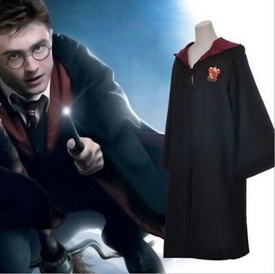 Harry Potter Gryffindor Adults Kids Children Costume Robe Cloak Fancy Dress Cape
