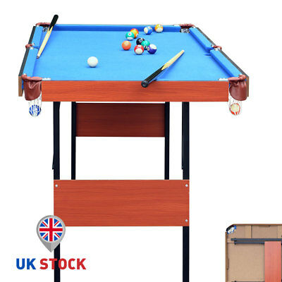55'' Folding Pool Snooker Billiard Game Table With Accessories For Kids Gift