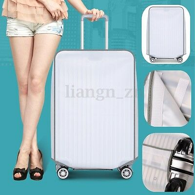 AU 20-30'' Transparent Travel Luggage Cover Elastic Protector Suitcase Dustproof
