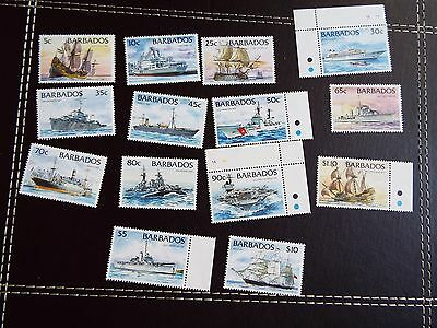 Barbados: 1994 Ships, Set of 14 UMM (MNH