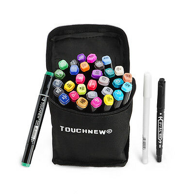 30 Unique Color TOUCHNEW Alcohol Art Sketch Pen Thick and Fine Twin Tip Marker