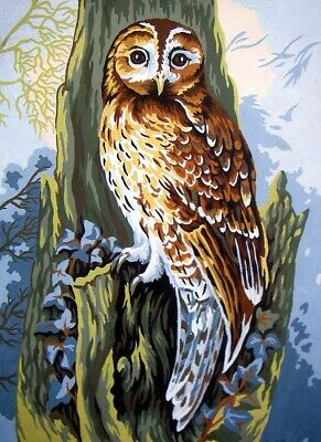 Owl Tapestry Canvas Collection D'Art